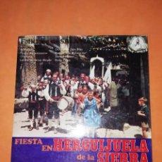 Discos de vinilo: FIESTA EN HERGUIJUELA DE LA SIERRA. FOLKLORE DE SALAMANCA. DISCOTECA PAX 1970. Lote 244354360
