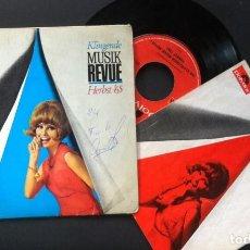 Discos de vinilo: VARIOS - DIE KLINGENDE MUSIK-REVUE HERBST 1965 - SINGLE ALEMAN CON LIBRETO 1965 - POLYDOR. Lote 244388880