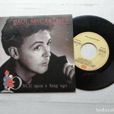 Discos de vinilo: PAUL MCCARTNEY – ONCE UPON A LONG AGO SINGLE SPAIN 1987 VINILO NM/PORTADA EX. Lote 244399165