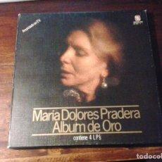 Discos de vinilo: LMV - MARÍA DOLORES PRADERA. ALBUM DE ORO. ZAFIRO 1980 - CAJA CON 4 LP'S. Lote 244402880