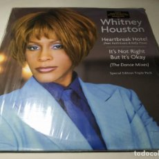 Discos de vinil: MAXI - WHITNEY HOUSTON ‎– HEARTBREAK HOTEL - (THE DANCE MIXES) - 3LP - E.ESPECI ( VG+ / VG+) US 1999. Lote 244411035