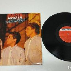 Discos de vinilo: 0221- CASTA VIVA LA LIBERTAD SPAIN 1985 LP PROMOCIONAL VIN POR VG+ DIS VG+. Lote 244413705