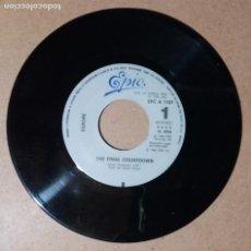 Discos de vinilo: EUROPE / THE FINAL COUNTDOWN / SINGLE 7 PULGADAS. Lote 244417750