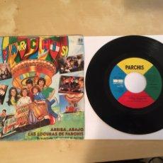 """Discos de vinilo: PARCHIS - ARRIBA, ABAJO + LAS LOCURAS DE PARCHIS - SINGLE PROMO RADIO 7"""" - 1982. Lote 244433380"""