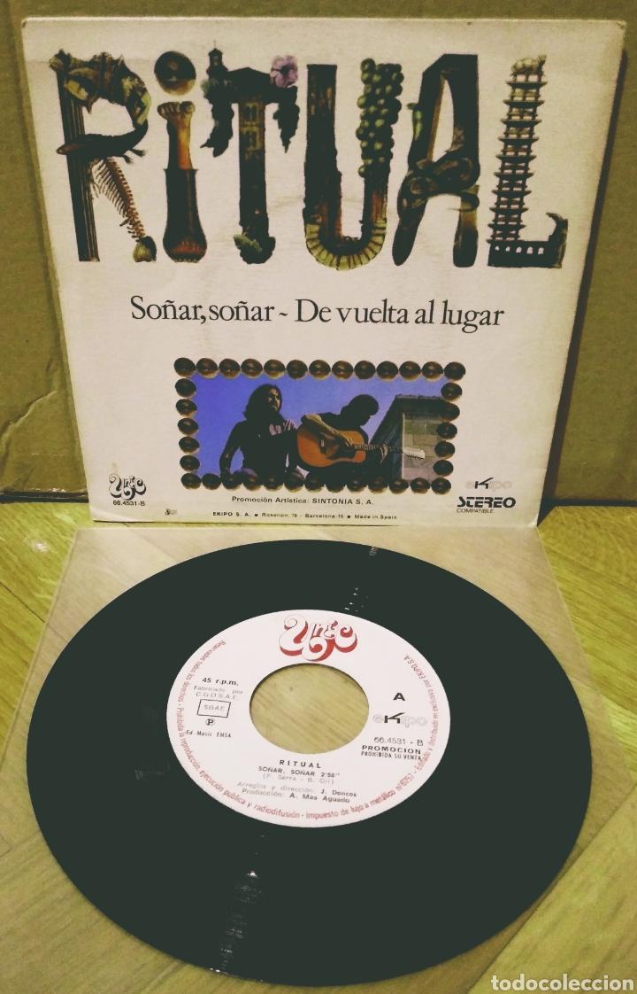 Discos de vinilo: RITUAL - SOÑAR, SOÑAR / DE VUELTA AL LUGAR SG Ekipo 1972 - Foto 2 - 244434790