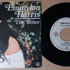 Discos de vinilo: EMMYLOU HARRIS / THE BOXER / SINGLE 7 PULGADAS. Lote 244440970