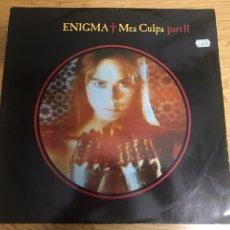 Discos de vinilo: ENIGMA MEA CULPA MAXI SINGLE AÑO 1991. Lote 244445470