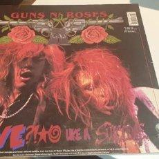 Disques de vinyle: LP GUNS N' ROSES LIVE UKE A SUICIDE ED ALEMANA. Lote 244451005