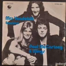 Discos de vinilo: PAUL MCARTNEY & WINGS - MRS VANDEBILT - SINGLE EDICION ESPAÑOLA DE 1974 THE BEATLES. Lote 244464035
