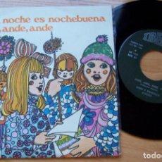 Discos de vinilo: ESTA NOCHE ES NOCHEBUENA VILLANCICOS. SINGLE 45 RPM 1968 PROMO DE SKIP. Lote 244470250