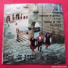 Discos de vinilo: DISCO SINGLE. ´PANDEIRADA DE ABELENDA´. CORAL ´DE RUADA´DE ORENSE. 1964.. Lote 244479615