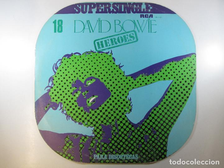 MAXI SG DAVID BOWIE · HEROES · SERIE SUPERSINGLE PARA DISCOTECAS (RCA, 1977) (RARO) (Música - Discos de Vinilo - Maxi Singles - Pop - Rock Internacional de los 70)