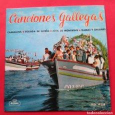 Discos de vinilo: DISCO SINGLE. ´CARBALLESA´. CANCIONES GALLEGAS. DANZAS DE LA SECCIÓN FEMENINA DE LA CORUÑA.. Lote 244481920