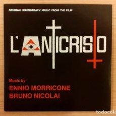 """Discos de vinilo: L' ANTICRISTO ENNIO MORRICONE / BRUNO NICOLAI DAGORED RECORDS 2019 7"""" 45 RPM NUEVO Y MUY RARO!!. Lote 244484520"""