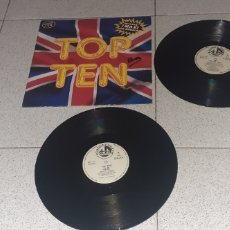 Discos de vinilo: TOP TEN - VARIOS ARTISTAS - SPAIN - BLANCO Y NEGRO - 2LP.S - LV. Lote 244490155