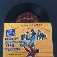 Discos de vinilo: EP EDITADO EN ESPAÑA BILL HALEY AND HIS COMETS ROCK AROUND THE CLOCK EDITA COLUMBIA ESPAÑA. Lote 244492040