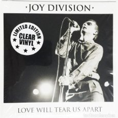 Discos de vinilo: JOY DIVISION ‎– LOVE WILL TEAR US APART / RARE LIMITED MISPRINT EDITION IN CLEAR VINYL. Lote 244493715