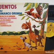 Discos de vinilo: LP CUENTOS DE LOS HERMANOS GRIMM - DISCOS NEVADA (1978). Lote 244495195