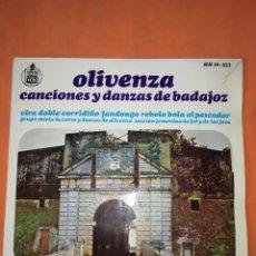 Discos de vinilo: CANCIONES Y DANZAS DE BADAJOZ VOL .2. HISPAVOX 1966.. Lote 244495595