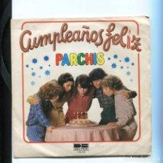 Discos de vinilo: PARCHIS. CUMPLEAÑOS FELIZ. EP DE BELTER 1981. MUY DIFÍCIL EN SINGLE. CONSERVADO BIEN. Lote 244497445