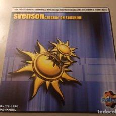 """Discos de vinilo: SVENSON - CLUBBIN' ON SUNSHINE (12""""). Lote 244497875"""
