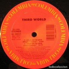 Discos de vinilo: THIRD WORLD ‎– HOLD ON TO LOVE / REGGAE RADIO STATION. Lote 244499285