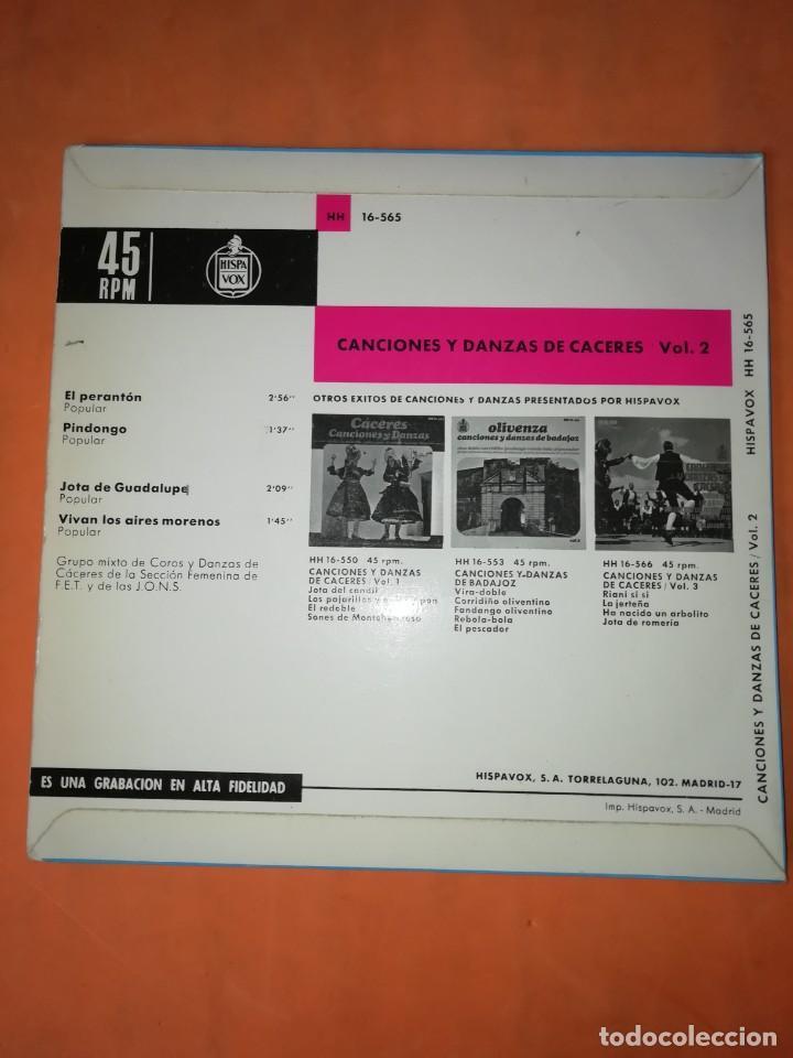 Discos de vinilo: CANCIONES Y DANZAS DE CACERES. HISPAVOX 1967. - Foto 2 - 244499320