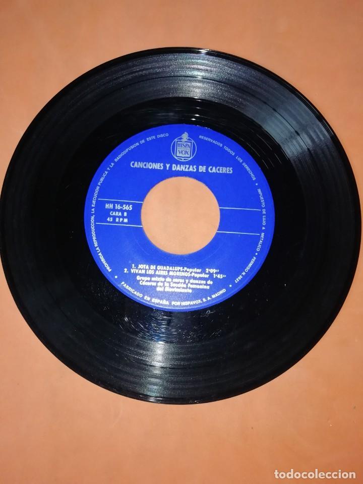 Discos de vinilo: CANCIONES Y DANZAS DE CACERES. HISPAVOX 1967. - Foto 4 - 244499320