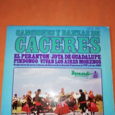 Discos de vinilo: CANCIONES Y DANZAS DE CACERES. HISPAVOX 1967.. Lote 244499320