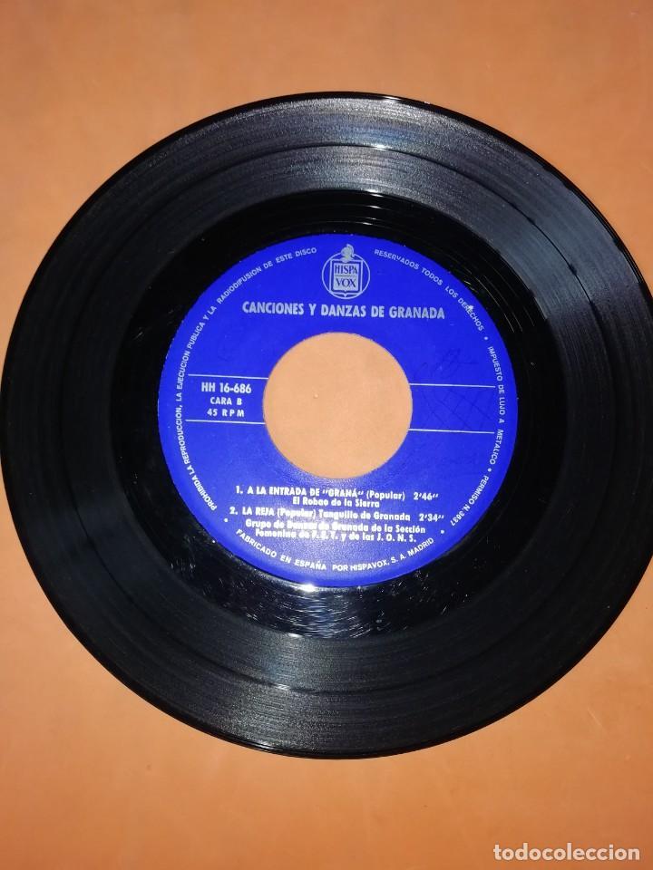 Discos de vinilo: CANCIONES Y DANZAS DE GRANADA. HISPAVOX 1968. - Foto 4 - 244501185