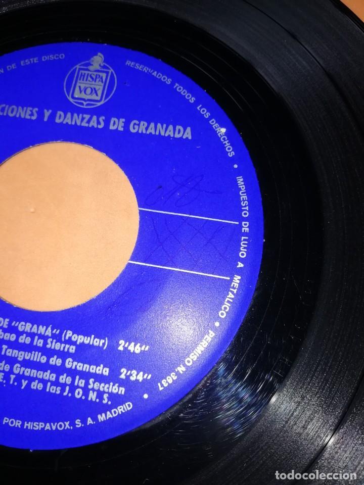 Discos de vinilo: CANCIONES Y DANZAS DE GRANADA. HISPAVOX 1968. - Foto 5 - 244501185