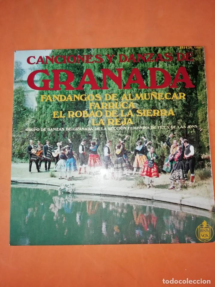 CANCIONES Y DANZAS DE GRANADA. HISPAVOX 1968. (Música - Discos de Vinilo - EPs - Flamenco, Canción española y Cuplé)