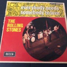 Discos de vinilo: SINGLE THE ROLLING STONES EVERYBODY NEEDS /SOMEBODY TO LOVE EDITADA DECCA FRANCIA. Lote 244501450