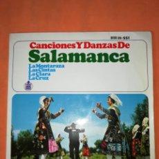 Discos de vinilo: CANCIONES Y DANZAS DE SALAMANCA. HISPAVOX 1966.. Lote 244502405