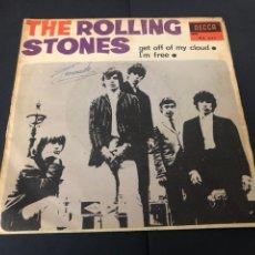 Discos de vinilo: SINGLE THE ROLLING STONES GET OFF OF MY CLOUND/ I M FREE EDITADO EN ESPAÑA DECCA. Lote 244503810