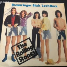 Discos de vinilo: EP THE ROLLING STONES BROWN SUGAR /BITCH / LET IT ROCK EDITADO EN FRANCIA. Lote 244507070