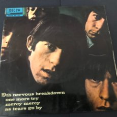Disques de vinyle: EP THE ROLLING STONES 19 TH NERVOUS BREAKDOWN/ON MORE TRY/MERCY MERCY/ AS TEAR GO BY EDITADO ESPAÑA. Lote 244507705