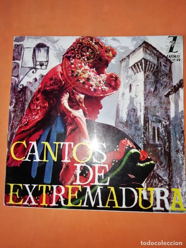 CANTOS DE XTREMADURA. ZAFIRO 1964. CON LIBRETO. (Música - Discos de Vinilo - EPs - Flamenco, Canción española y Cuplé)