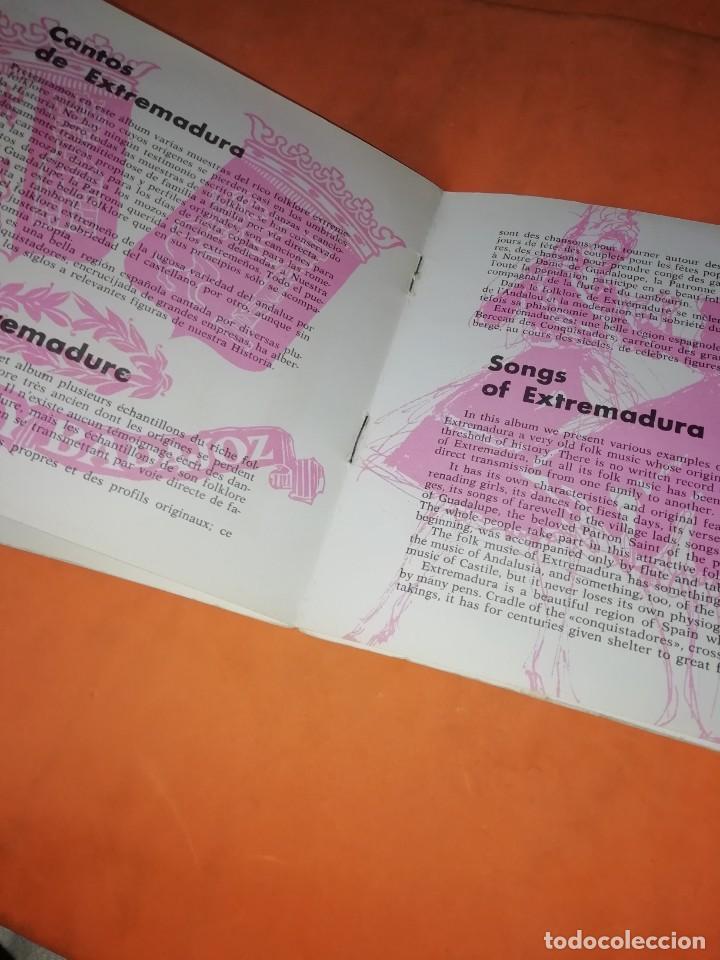 Discos de vinilo: CANTOS DE XTREMADURA. ZAFIRO 1964. CON LIBRETO. - Foto 5 - 244510105