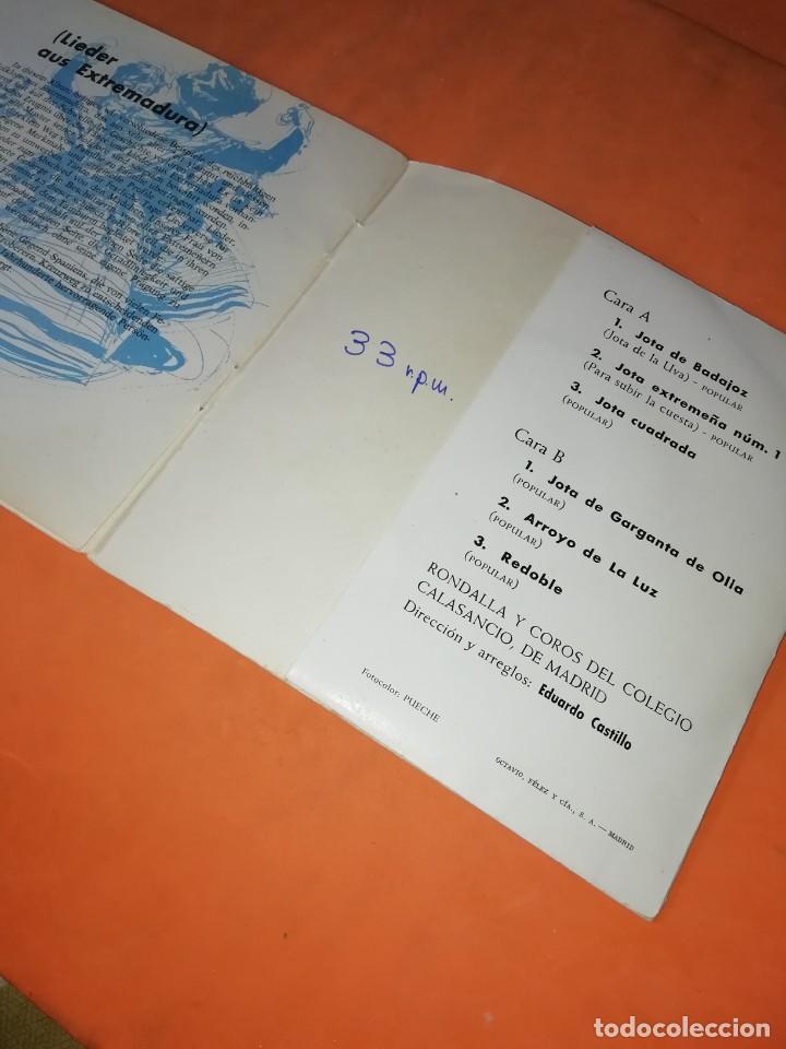 Discos de vinilo: CANTOS DE XTREMADURA. ZAFIRO 1964. CON LIBRETO. - Foto 6 - 244510105