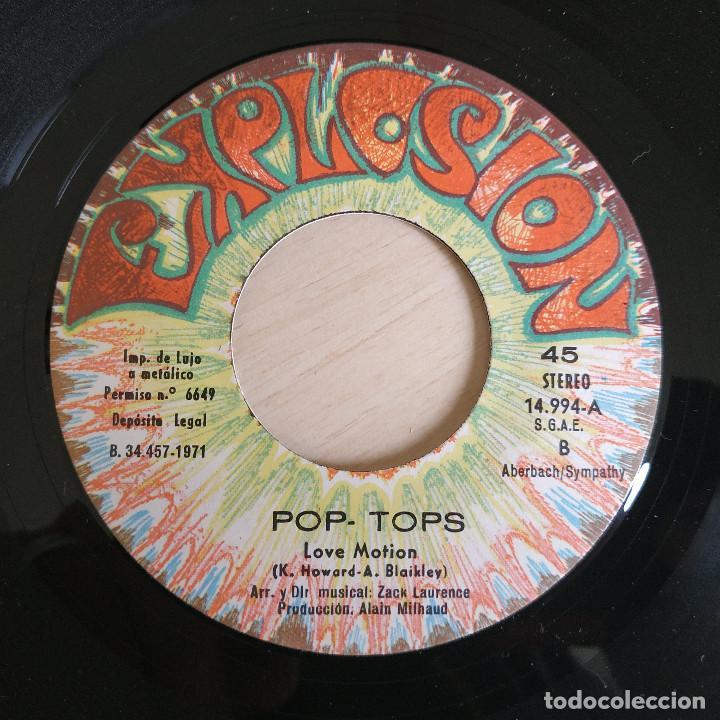 Discos de vinilo: POP-TOPS - MAMY BLUE / LOVE MOTION - VERSION ESPAÑOLA - SINGLE EXPLOSION AÑO 1971 ESTADO COMO NUEVO - Foto 4 - 244516250