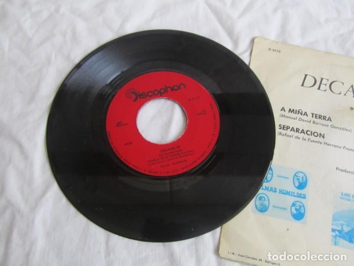Discos de vinilo: Single vinilo Decada 70 A miña terra, separación - Foto 3 - 244517180