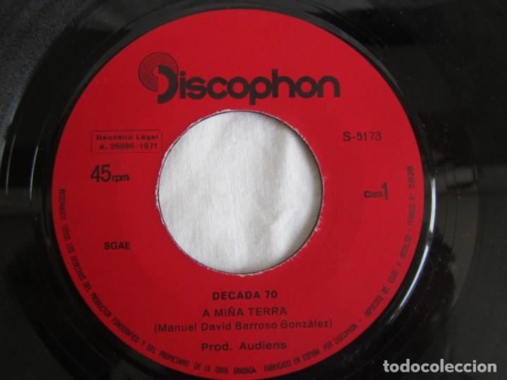 Discos de vinilo: Single vinilo Decada 70 A miña terra, separación - Foto 5 - 244517180