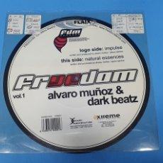 Discos de vinilo: FREDOM VOL.1 - ÁLVARO MUÑOZ & DARK BEATZ. Lote 244518385