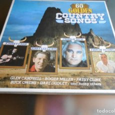 Discos de vinilo: 60 GOLDEN COUNTRY , 3 LP, ROGER MILLER - LITTLE GREEN APPLES + 59, AÑO 19?? MADE IN GERMANY. Lote 244518695