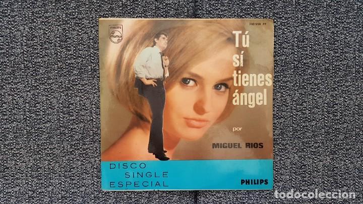 Discos de vinilo: Miguel Rios - Tu si tienes angel - single año 1.965 Editado por Philips. - Foto 3 - 186173470