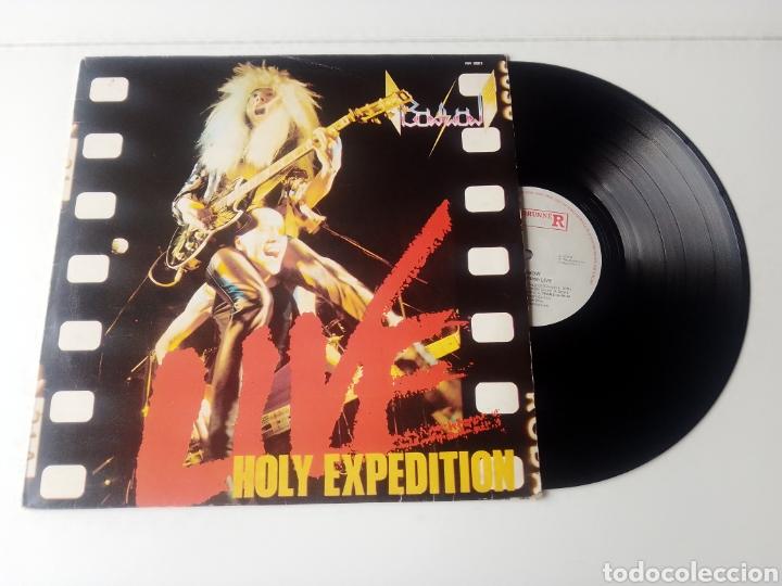 BOW BOW LP HOLY EXPEDITION 1983 ROADRUNNER HEAVY METAL JAPONES RARO (Música - Discos - LP Vinilo - Heavy - Metal)