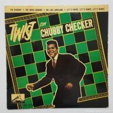 Discos de vinilo: TWIST CON CHUBBY CHECKER. EP. 1962 LA VOZ DE SU AMO. THE SHIMMY + 3. RARO. Lote 244535870