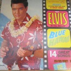 Discos de vinilo: ELVIS PRESLEY - BLUE HAWAII LP - ORIGINAL U.S.A. - RCA VICTOR RECORDS 1961 - MONO - FUNDA INTERIOR. Lote 244538715