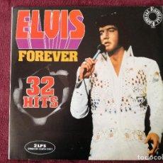 Discos de vinilo: ELVIS PRESLEY - FOREVER 32 HITS (RCA CIRCULO LECTORES) 2 X LP PORTADA ABIERTA. Lote 244556750